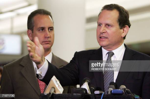 CubanAmerican member of the US House of Representatives Lincoln DiazBalart speaks during a press conference at Miami's International Airport after he...