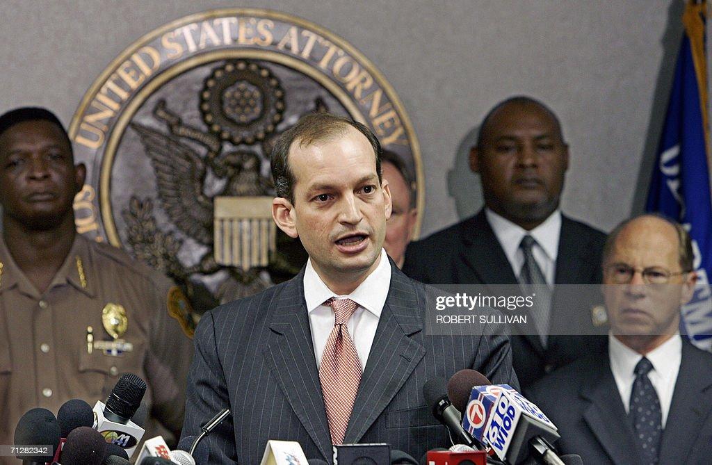 US Attorney Alexander Acosta addresses a : News Photo