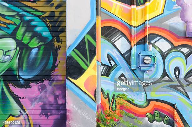 Miami Urban Street Art Graffiti Painted Warehouse
