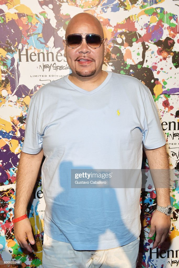 Miami-based Hip hop artist, Fat Joe attends Hennessy V.S Limited Edition by JonOne launch party at Cafeina on July 21, 2017 in Wynwood Miami. The Limited Edition release by JonOne, which features a colorful, vibrant design, is the seventh in an ongoing series of collaborations between Hennessy V.S and several internationally renowned artists.