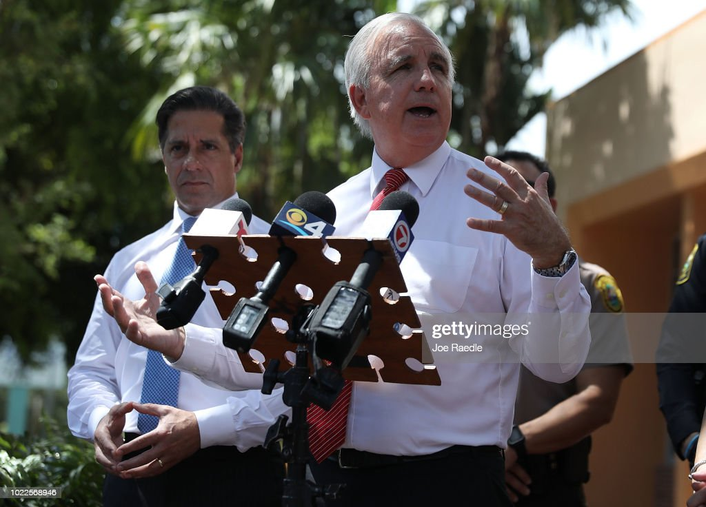 Miami Mayor Gimenez Gets Briefing On New Security Measures At Schools : News Photo