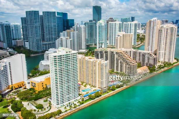 Miami's Brickell Key Aerial
