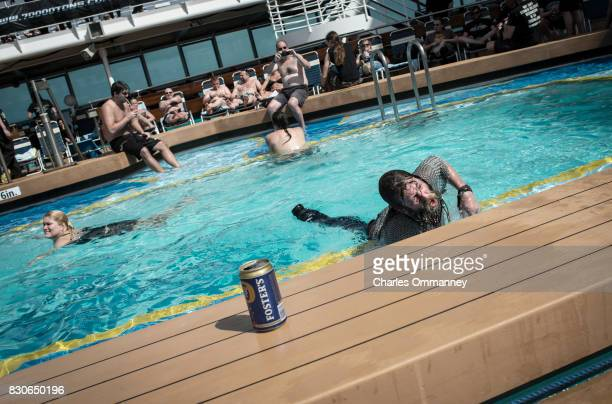 Miami/Turks Caicos Islands JANUARY 2831 Onboard the cruise liner 'Majesty of the Seas' during the '70000 Tons of Metal Tour' The drunk one