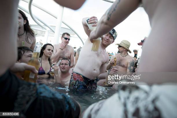 Miami/Turks Caicos Islands JANUARY 2831 Onboard the cruise liner 'Majesty of the Seas' during the '70000 Tons of Metal Tour' In the hot tub