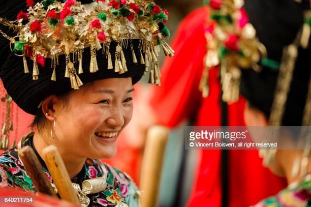 Miao dancer in Fenghuang, China