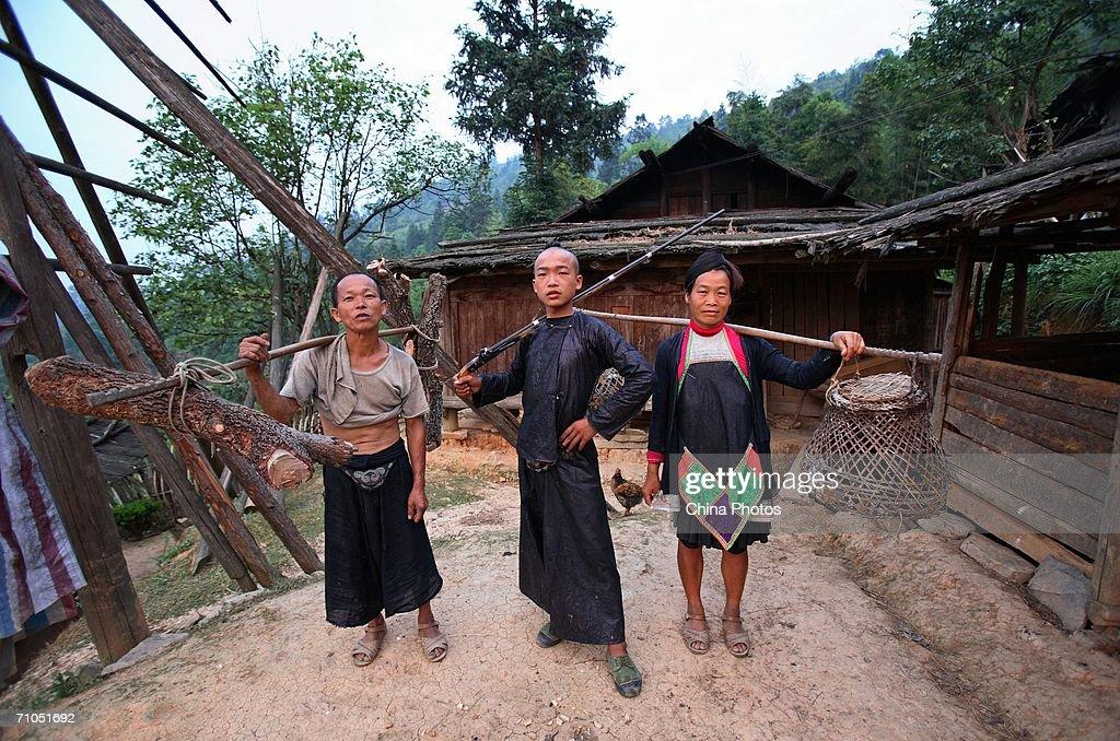 Basha Village Of Miao Ethnic Minority Tribe : News Photo