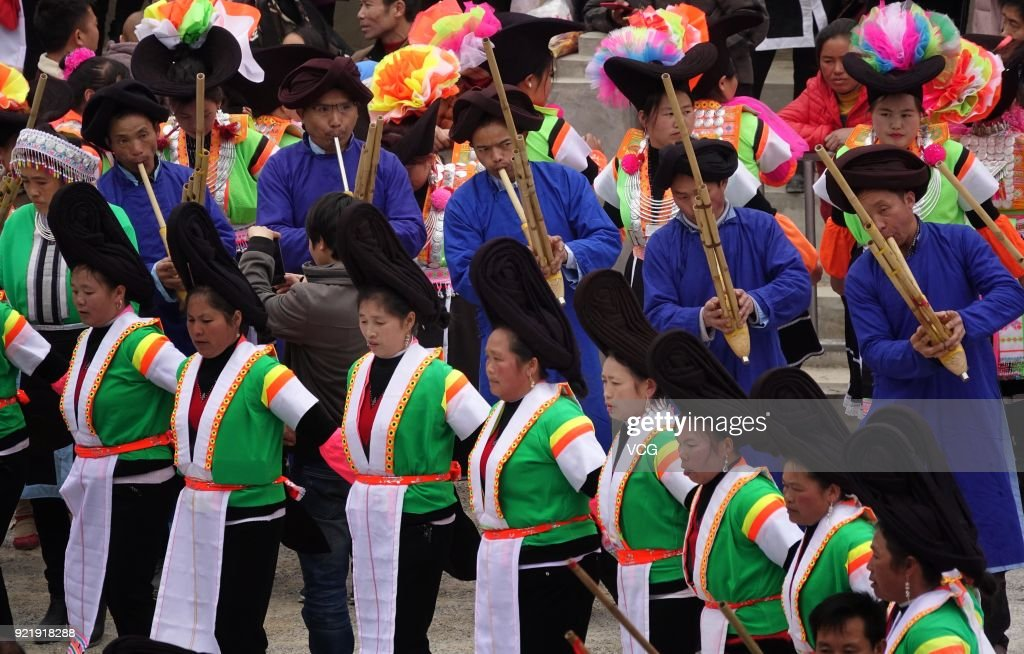 Miao People Attend Sacrifice Ceremony In Qiannan : News Photo