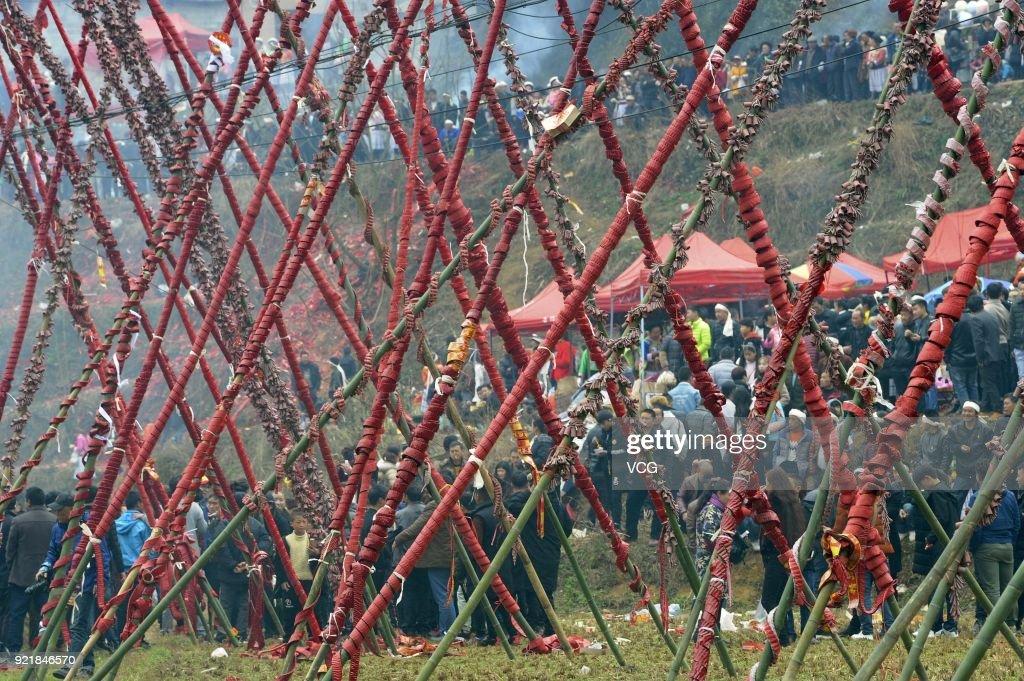 Miao People Worship Ancestors In Guiyang : News Photo
