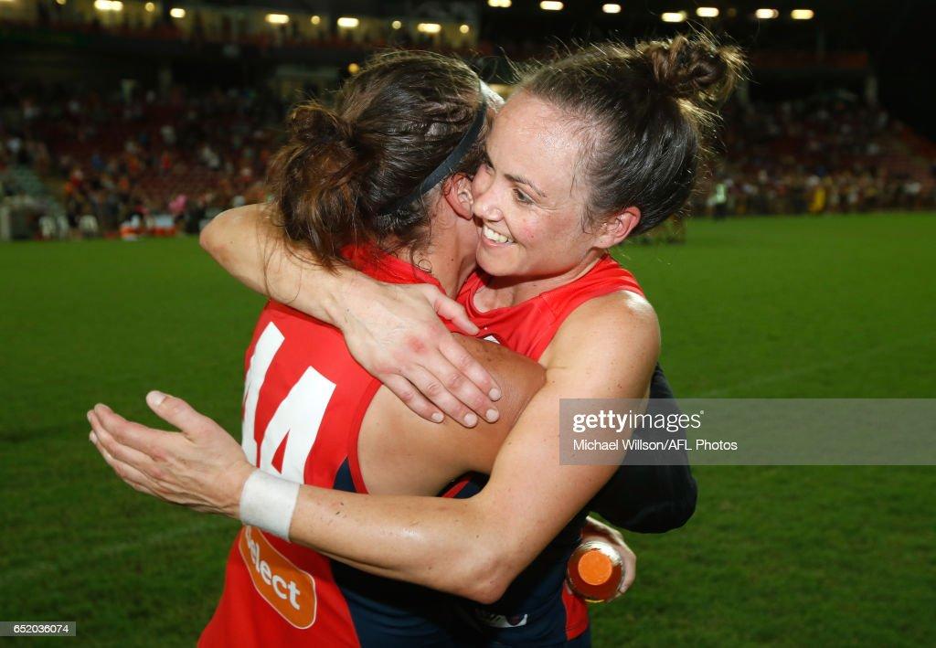 AFL Women's Rd 6 - Adelaide v Melbourne : News Photo