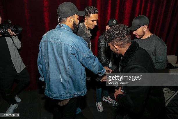 Mic Lowry band on backstage during the 'Purpose Tour' Party, Justin Bieber's after concert at Pacha Barcelona on November 22, 2016 in Barcelona,...