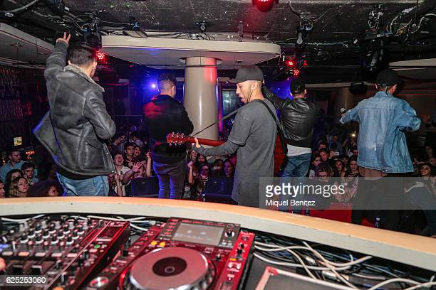 Mic Lowry band perform on stage during the 'Purpose Tour' Party, Justin Bieber's after concert at Pacha Barcelona on November 22, 2016 in Barcelona,...