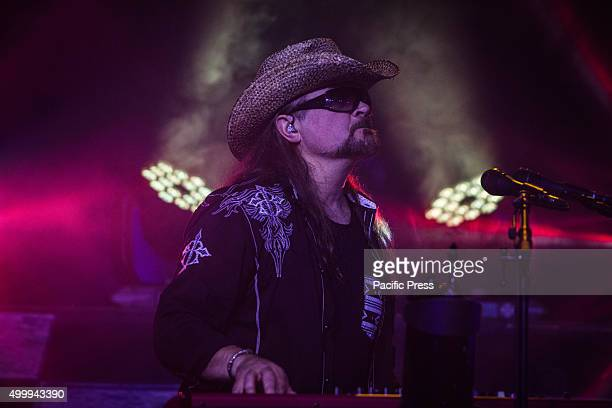 Mic Michaeli of the swedish rock band Europe pictured on stage as he performs live at Alcatraz Milan Italy
