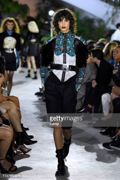 Mica Argañaraz walks the runway during Louis Vuitton Cruise 2020 on May 8 2019 in New York USA
