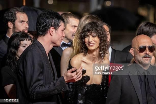 """Mica Arganaraz and Gaspard Noe attend the screening of """"Lux Aetterna"""" during the 72nd annual Cannes Film Festival on May 18, 2019 in Cannes, France."""