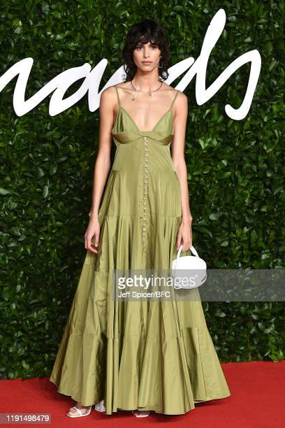 Mica Argañaraz arrives at The Fashion Awards 2019 held at Royal Albert Hall on December 02 2019 in London England
