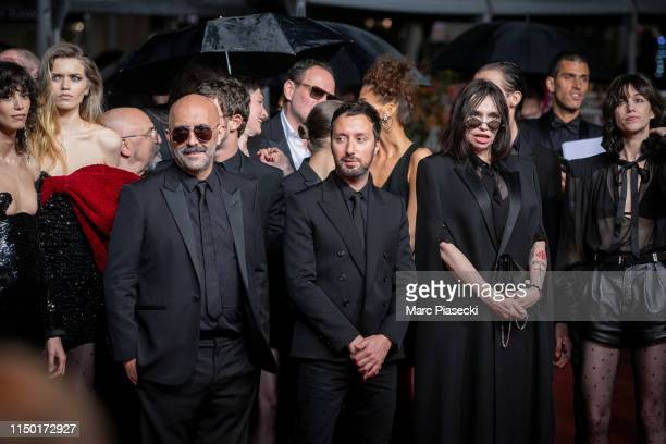 """Mica Arganaraz , Gaspard Noe, Anthony Vaccarello, Beatrice Dalle and Charlotte Gainsbourg attend the screening of """"Lux Aetterna"""" during the 72nd..."""