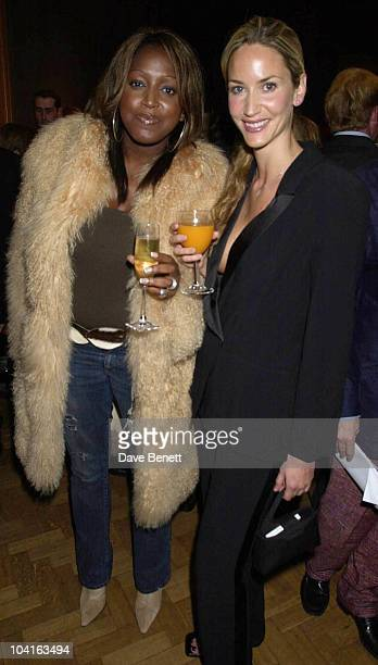 Mica Paris And Lisa Butcher Marie And Eddie Jordan Hosted The Clic Charity Auction At Christies In St James London And Raised Over A Hundred Thousand...