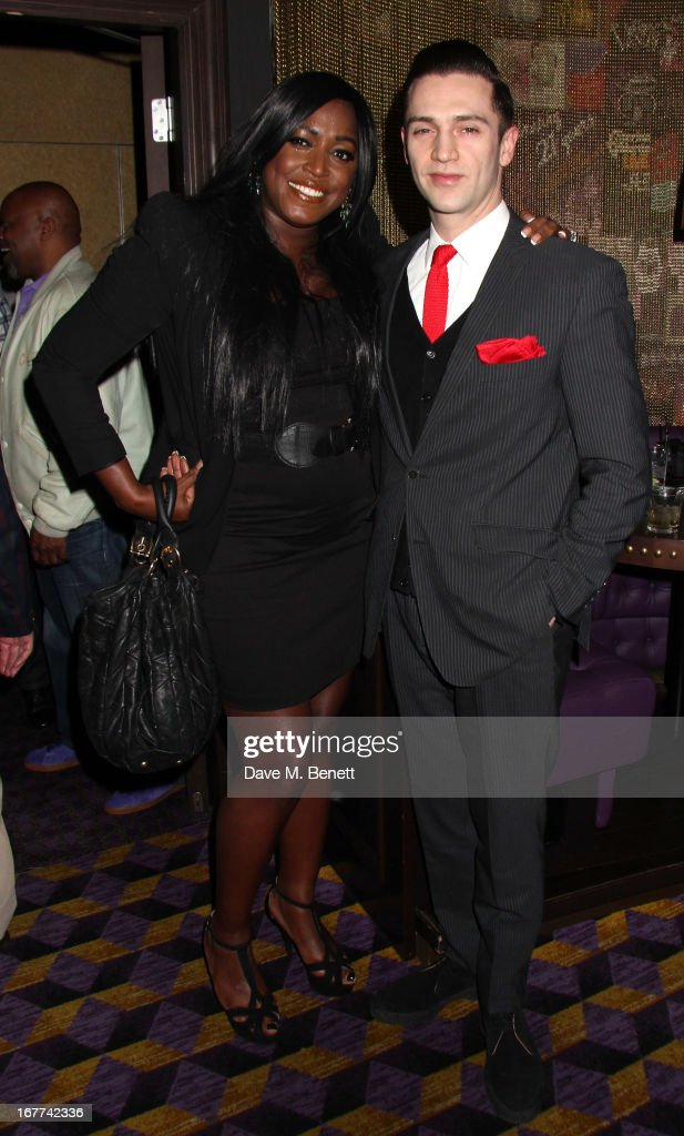 Mica Paris and Reg Traviss attend an evening in aid of the 'Amy Winehouse Foundation' hosted by Mitch Winehouse, at the hippodrome, on April 28, 2013 in London, England.