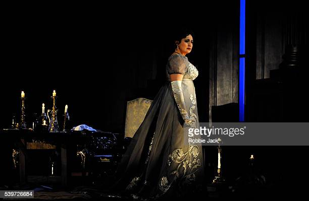Micaela Carosi performs in Giacomo Puccini's opera Tosca at the Royal Opera House Covent Garden in London