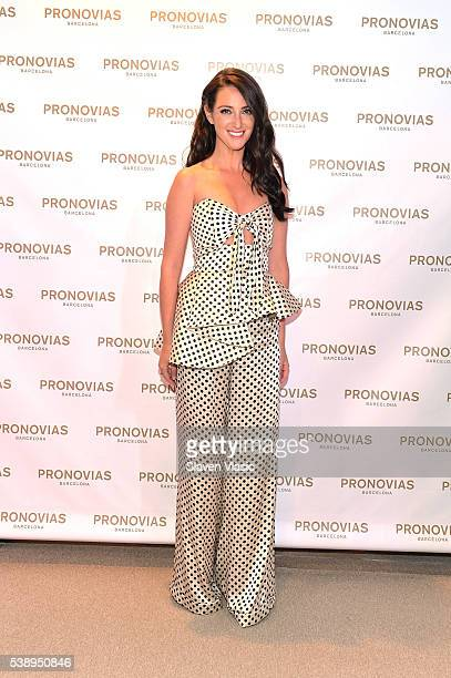Micaela Erlanger poses at the Provinas Bridal Masterclass on June 8 2016 in New York City