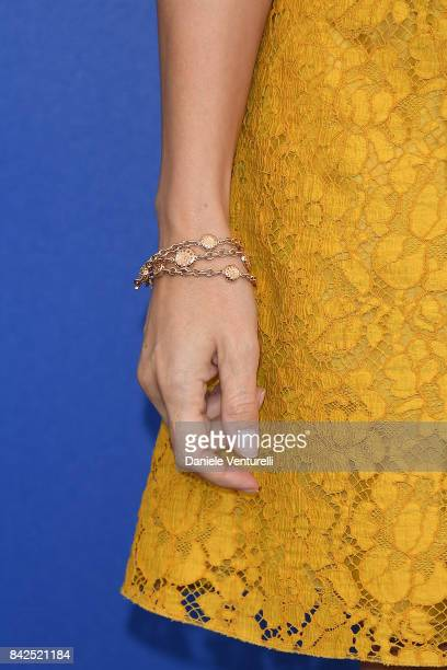 Micaela Ramazzotti bracelet detail attends the 'Una Famiglia' photocall during the 74th Venice Film Festival on September 4 2017 in Venice Italy