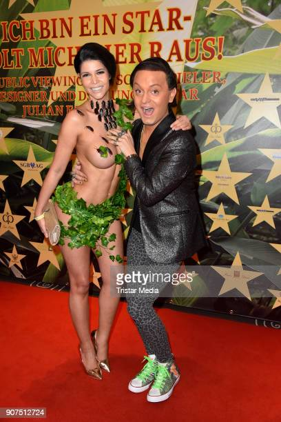 Micaela Schaefer and Julian F M Stoeckel during the Public Viewing Of the TV Show 'Ich bin ein Star Holt mich hier raus' on January 19 2018 in Berlin...
