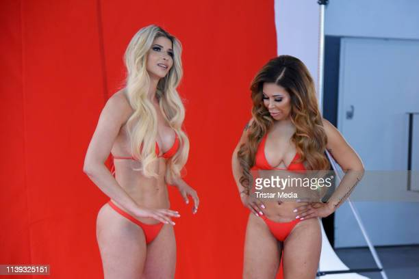 Micaela Schaefer and Patricia Blanco during the Venus 2019 campaign photo shooting on April 25 2019 in Berlin Germany