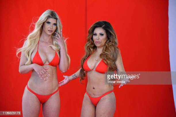 Micaela Schaefer and Patricia Blanco during the Venus 2019 campaign photo shooting on April 25, 2019 in Berlin, Germany.