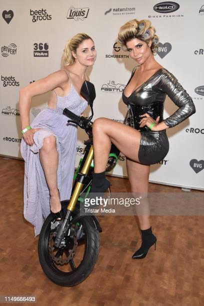 Micaela Schaefer and Yvonne Woelke during the premiere of the new eROCKIT Bike on June 12, 2019 in Berlin, Germany.