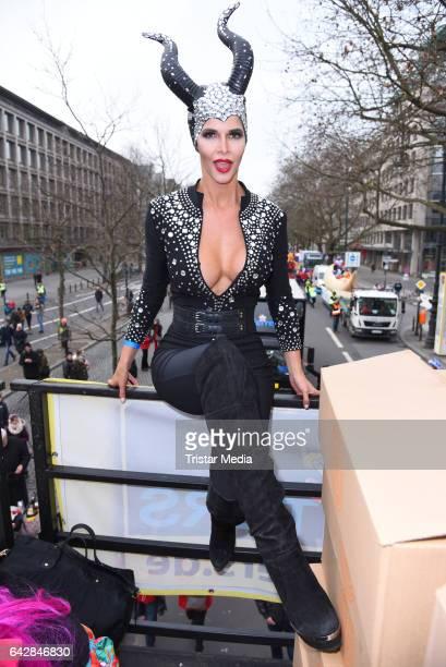 Micaela Schaefer attends the Berlin Carnival Parade on February 19, 2017 in Berlin, Germany.