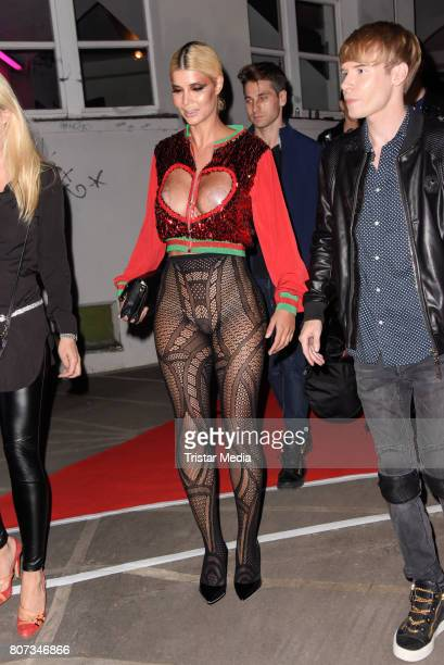 Micaela Schaefer attends the Fashion Week Berlin Opening Night With Dandy Diary And Harald Gloeoeckler at Insel der Jugend on July 3 2017 in Berlin...