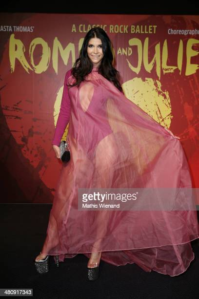 Micaela Schaefer attends the German Premiere of 'Romeo And Juliet - A Classic Rock Ballet' at Capitol Theater on March 27, 2014 in Dusseldorf,...
