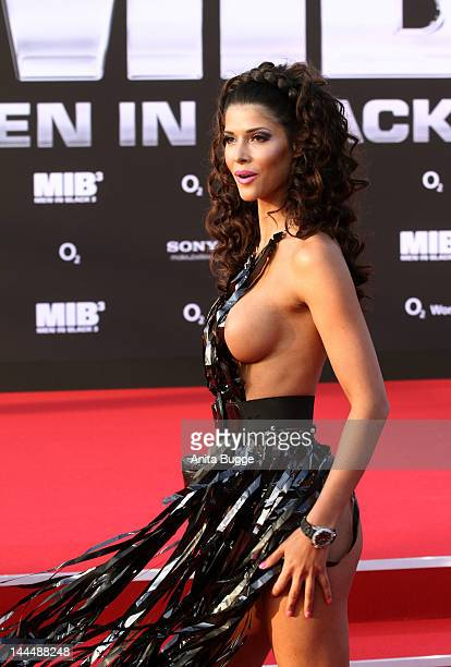 Micaela Schaefer attends the 'Men In Black 3' Germany Premiere at O2 World on May 14 2012 in Berlin Germany