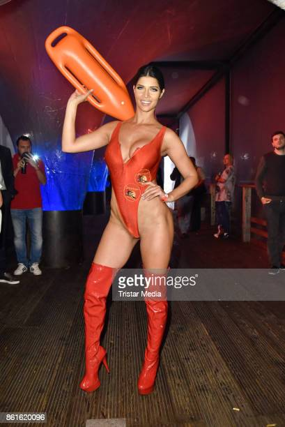 Micaela Schaefer during the netstarstv party at Spindler Klatt on October 15 2017 in Berlin Germany