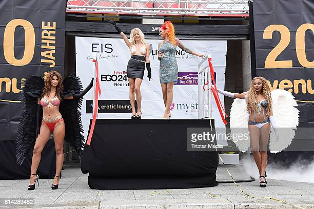 Micaela Schaefer Mia Julia Brueckner Lexy Roxx and Sarah Jeolle Jahnel attend the opening of the Venus Erotic Fair at Palais am Funkturm on October...