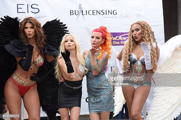 Micaela Schaefer Mia Julia Brueckner Lexy Roxx and Sarah Jeolle Jahnel attends the opening of the Venus Erotic Fair at Palais am Funkturm on October...