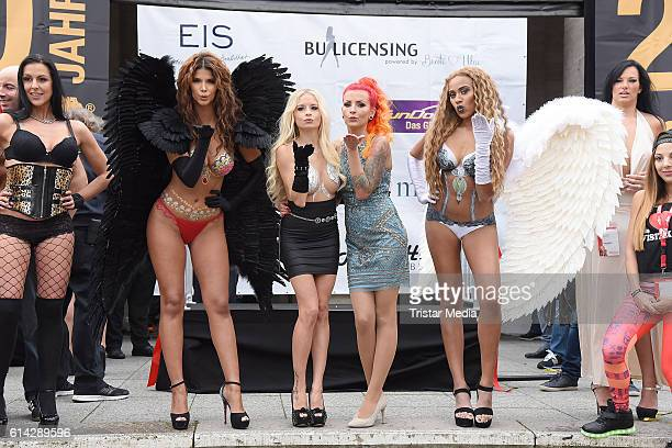 Micaela Schaefer Mia Julia Brueckner Lexy Roxx and Sarah Jeolle Jahnel attends the opening of the Venus Erotic Fair at Palais am Funkturm on October...