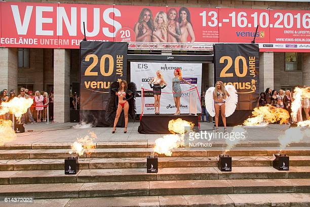 Micaela Schaefer Mia Julia Brueckner Lexy Roxx and Sarah Jeolle Jahnel attend the opening of the 20th Venus Erotic Fair at Palais am Funkturm in...