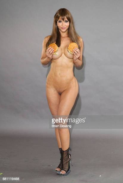 Micaela Schaefer poses during a photo shoot for the calendar 'Foodporn' on May 9 2017 in Berlin Germany