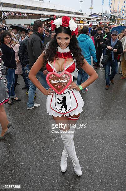 Micaela Schaefer sighted during Oktoberfest at Theresienwiese on September 21 2014 in Munich Germany
