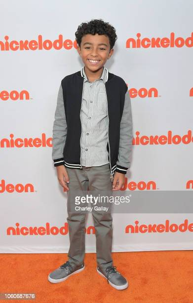 Micah Abbey attends Nickelodeon' Holiday Party With Casts Of Cousins For Life And Henry Danger at Nickelodeon Studios on November 10 2018 in Burbank...