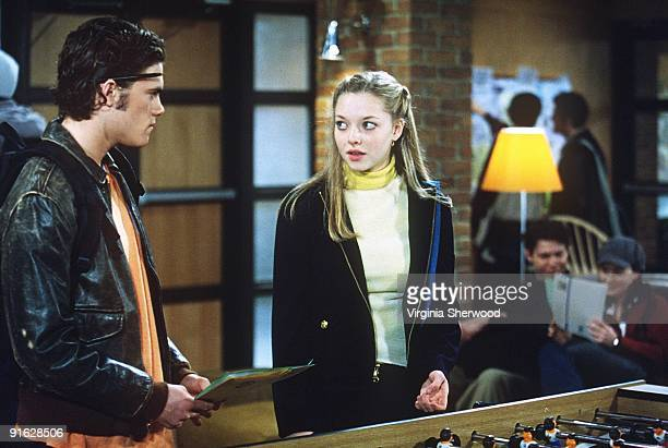 CHILDREN 1/13/03 Micah Alberti and Amanda Seyfried in a scene during the week of Jan 13 2003 from ABC Daytime's 'All My Children' 'All My Children'...