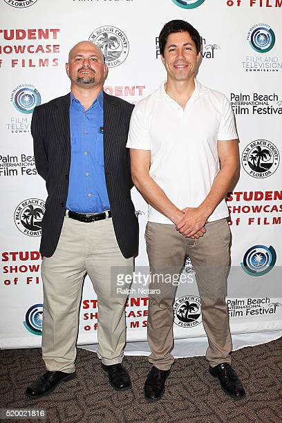Micah Brandt and Mark Marchillo attend Palm Beach International Film Festival 2016 Filmmakers Meet And Greet on April 7 2016 in Manalapan Florida