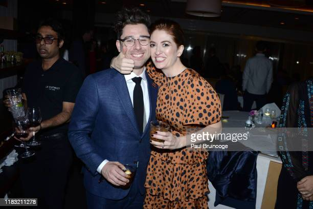 Micah FizermanBlue and Marielle Heller attend New York Special Screening Of A Beautiful Day In The Neighborhood After Party at Le District Restaurant...