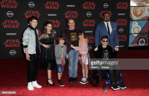 Micah Fowler and Cedric Yarbrough at the Premiere Of Disney Pictures And Lucasfilm's 'Star Wars The Last Jedi' held at The Shrine Auditorium on...