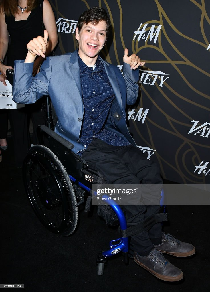 Micah Fowler arrives at the Variety Power Of Young Hollywood