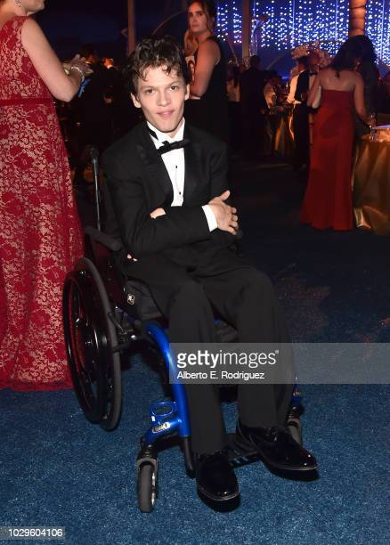 Micah Fowler attend the 2018 Creative Arts Emmys Ball on September 8 2018 in Los Angeles California