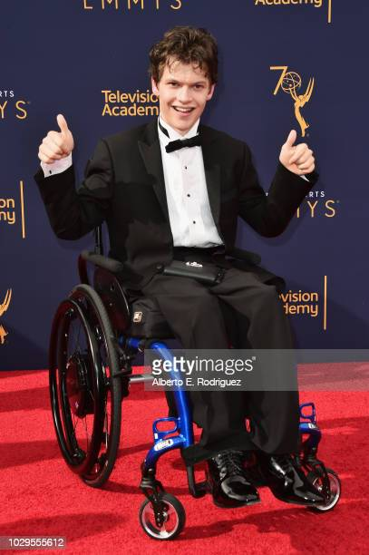 Micah Fowler attends the 2018 Creative Arts Emmy Awards at Microsoft Theater on September 8 2018 in Los Angeles California