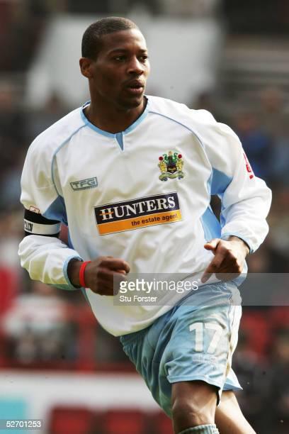 Micah Hyde of Burnley in action during the Coca Cola Championship match between Nottingham Forest and Burnley at The City Ground on April 23, 2005 in...