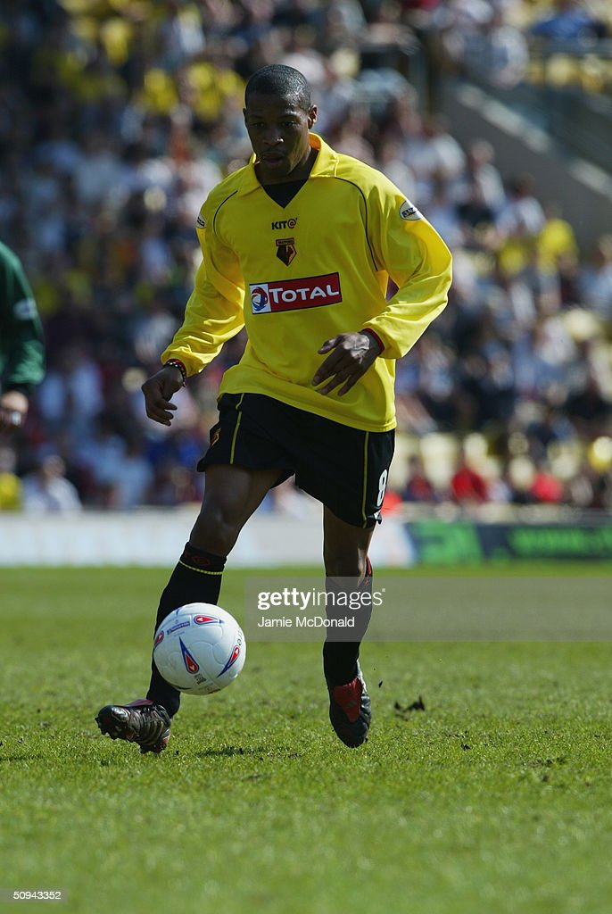 Micah Hyde of Watford during the Nationwide Division One match between Watford and Norwich City at Vicarage Road on April 24, 2004 in Watford, England.